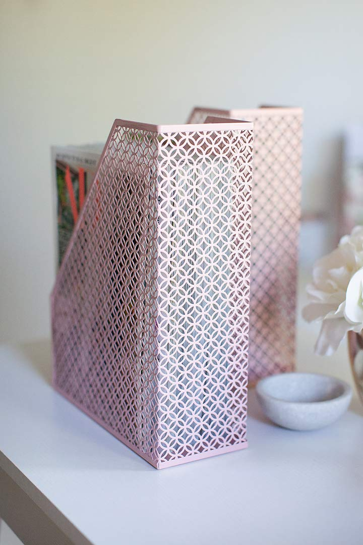 Beautiful-Patterned-Pink-Magazine-Holder-For-Womans-Home-Office-Decor-Cheap