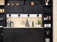 Black-bookcase-kitchen-compartmentalised-elements