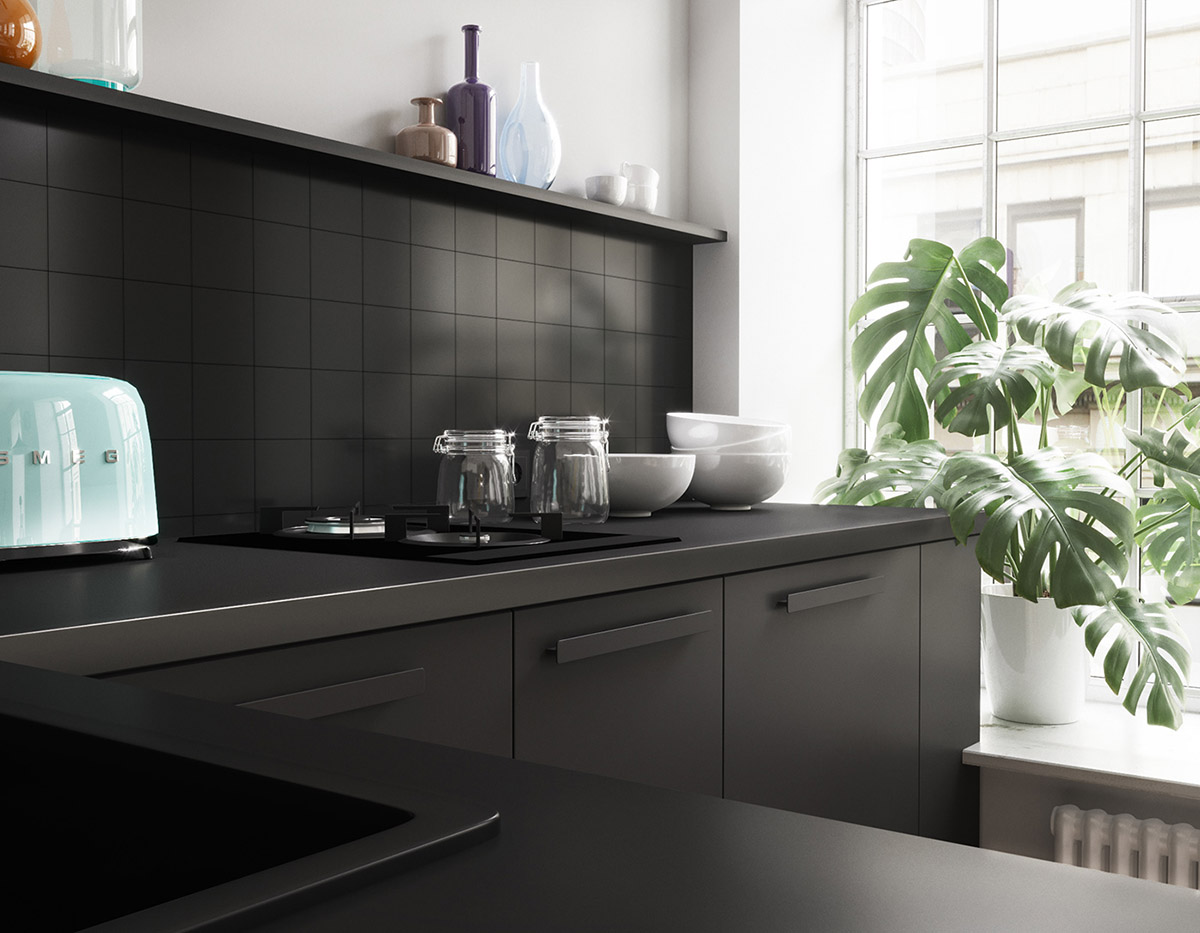 Black-kitchen-tiles