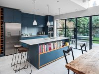 Blue-modern-kitchen