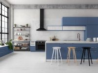 Blue-white-wood-kitchen
