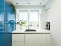 Bright-blue-kitchen
