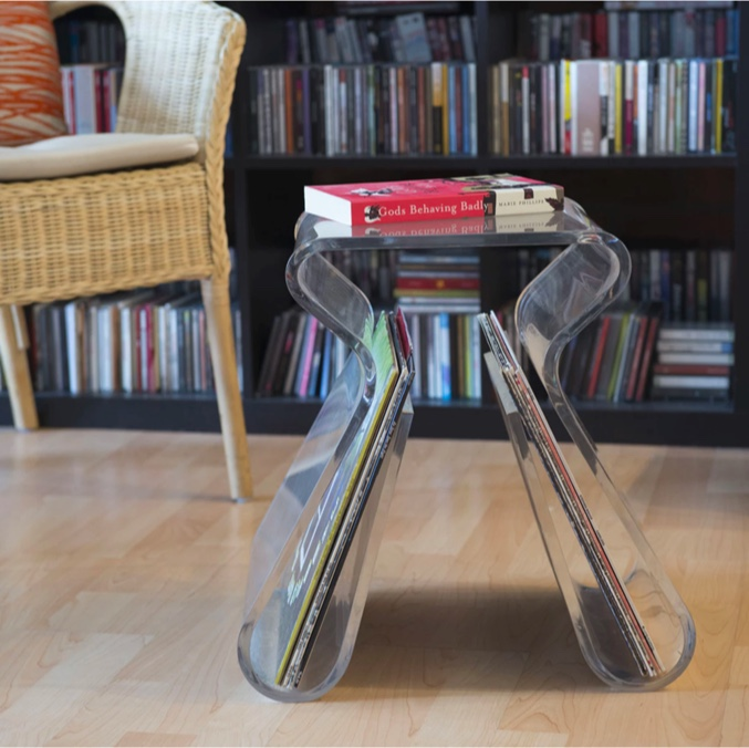 Clear-Acrylic-Stool-With-Magazine-Holder-Contemporary-Furniture-Plastic