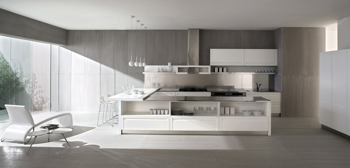 Concrete-walls-white-kitchen-