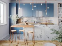 Copper-kitchen-bar-stools