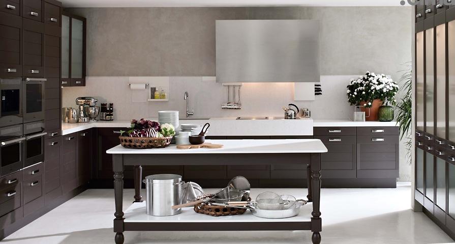 Dark-Wood-Classical-Kitchen