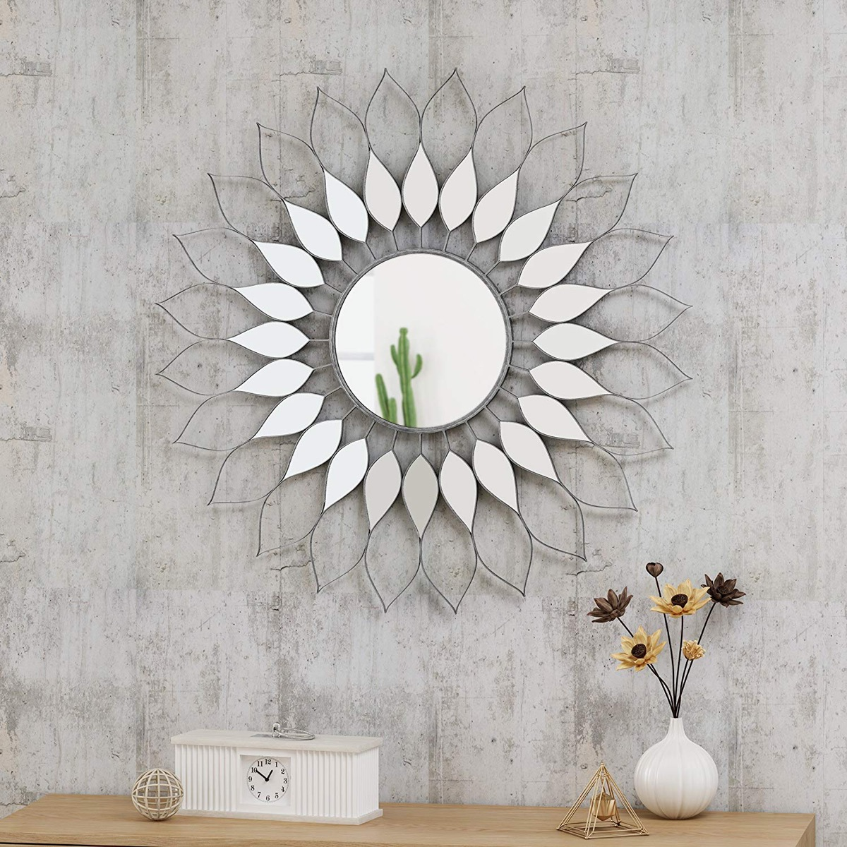 Decorative-Sunburst-Mirror-Flower-Shaped-Metal-Wall-Decor-1