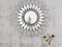 Decorative-Sunburst-Mirror-Flower-Shaped-Metal-Wall-Decor