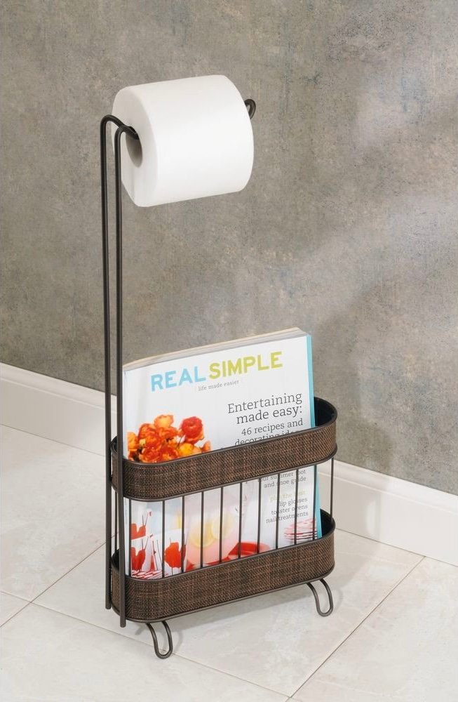 Free-Standing-Metal-Toilet-Paper-Holder-and-Magazine-Rack-Bronze-Floor-Bin
