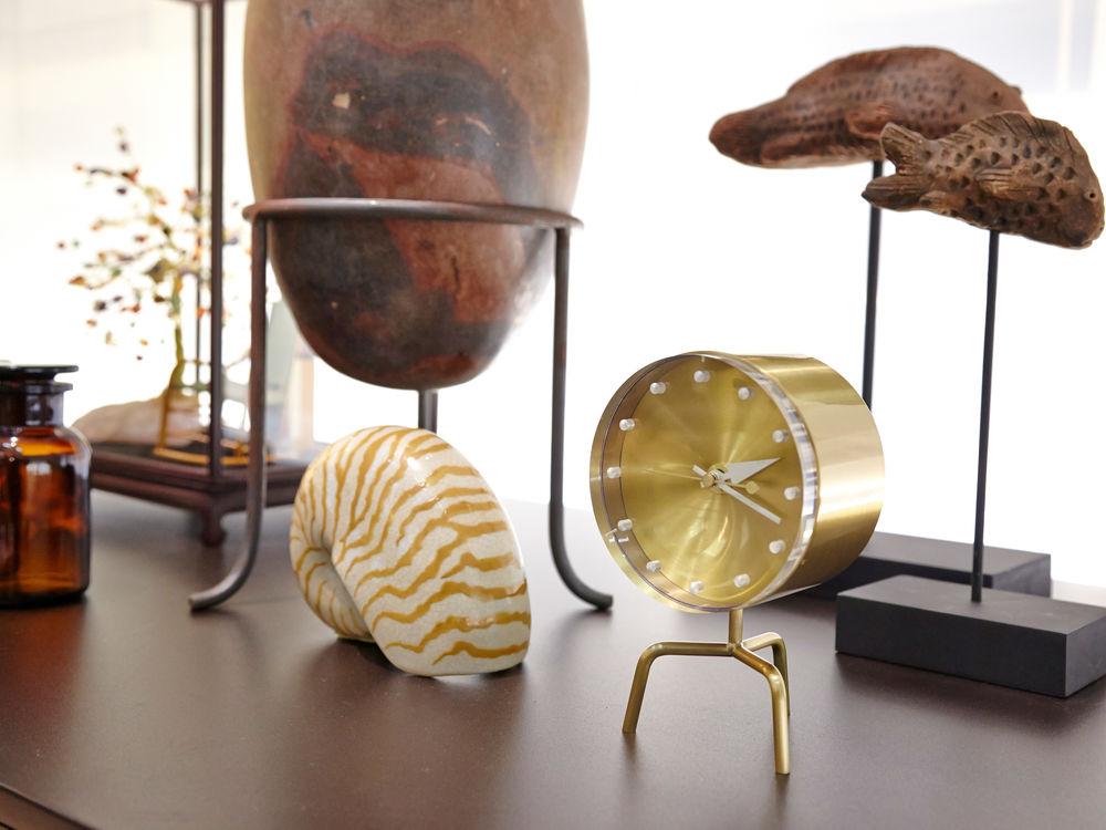 George-Nelson-Tripod-Desk-Clock-Gold-Classic-Mid-Century-Modern-Home-Decor