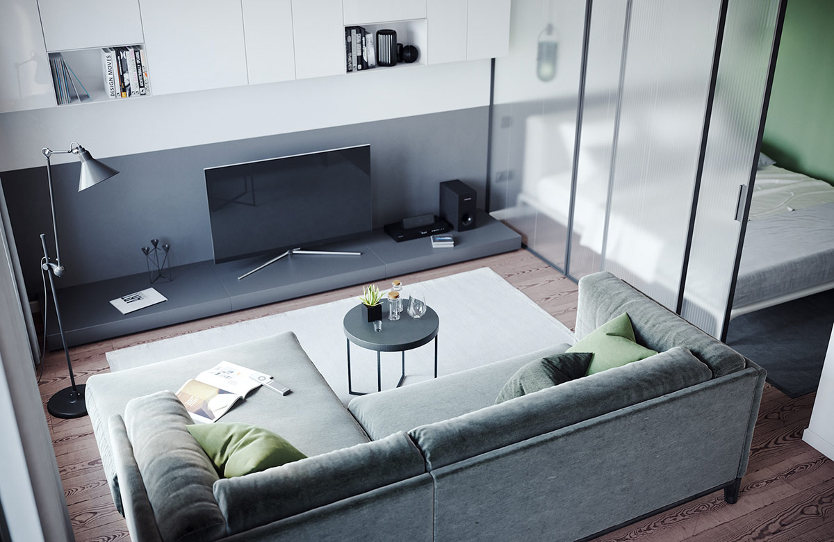 Glass-wall-bedroom-apartment