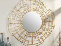 Gold-Oriental-Modern-Accent-Mirror-Decorative-Bathroom-Mirror-Round