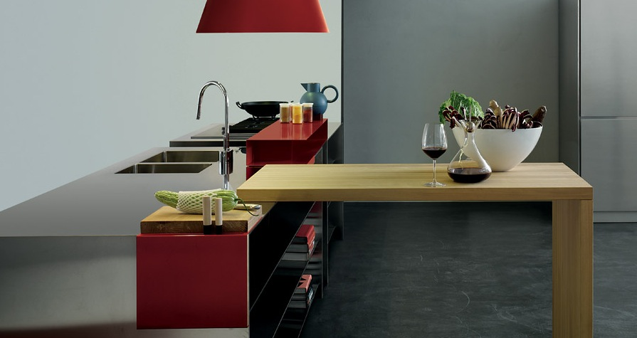Grey-and-Red-with-a-Wooden-Element