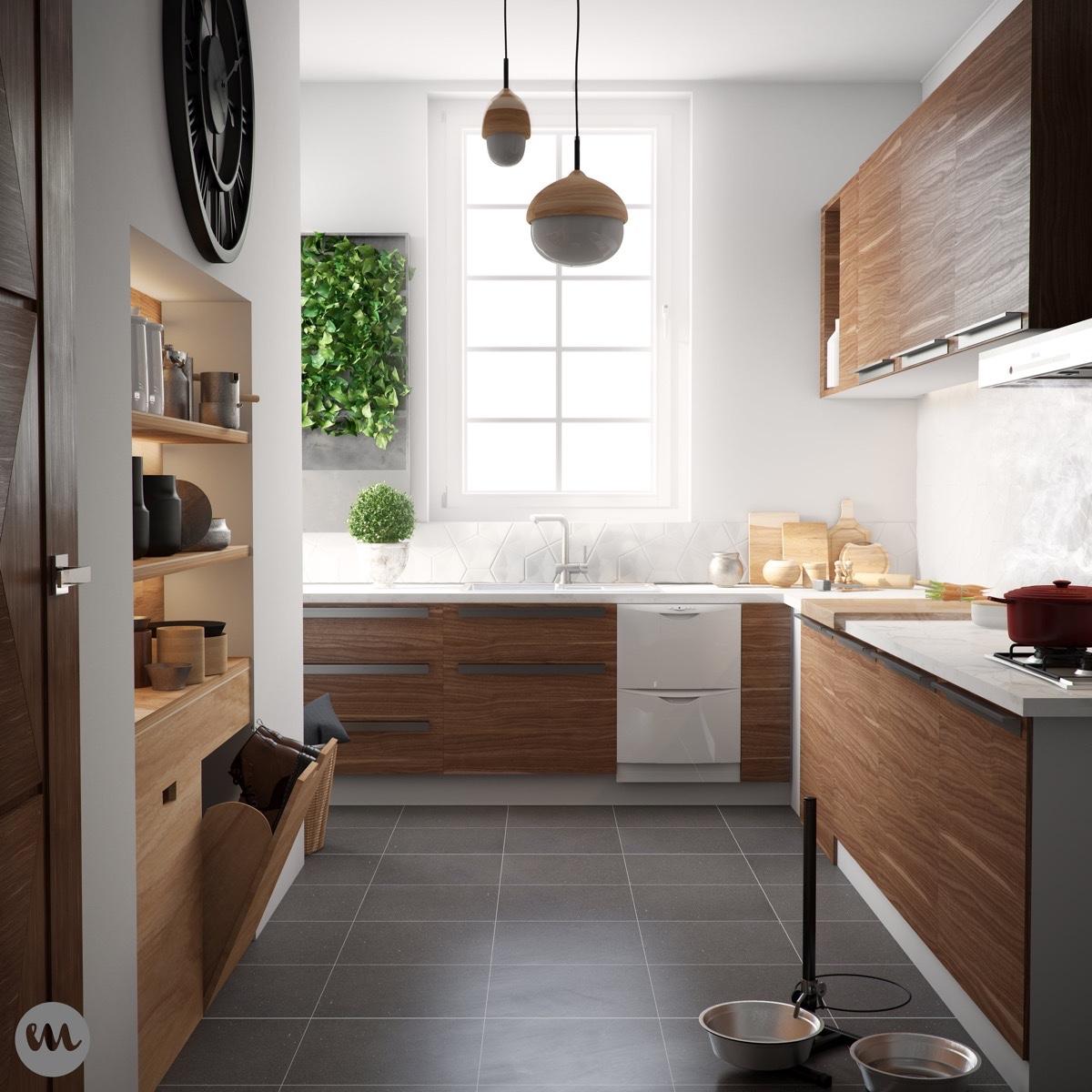 IKEA-kitchen-varnished-wooden-panels