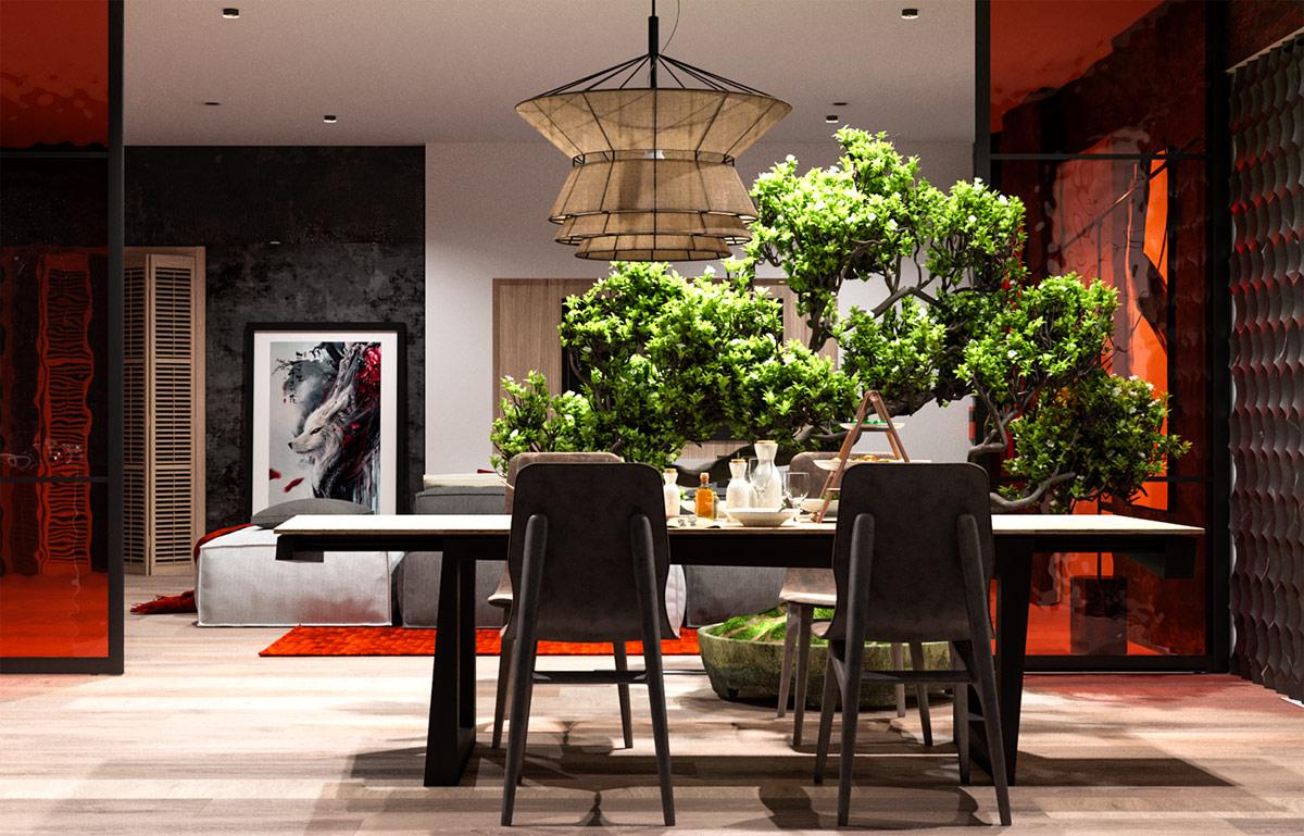 Japanese-dining-room-pendant-light