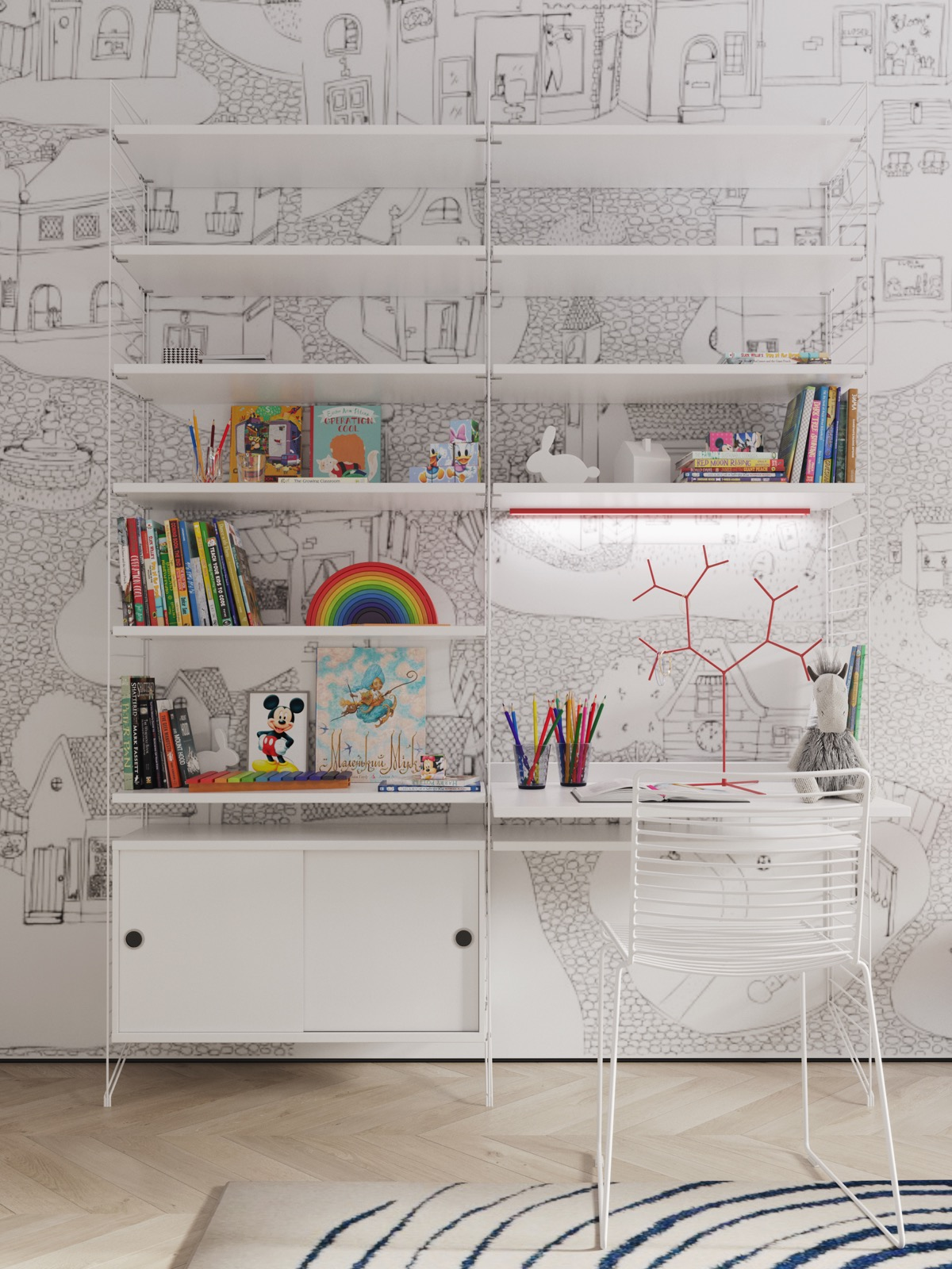 Kids-shelving-system