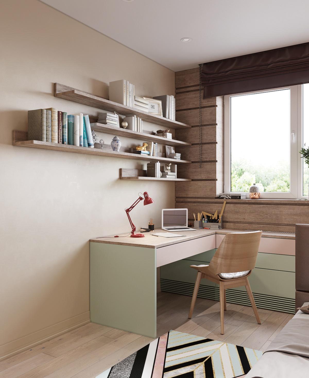 L-shaped-kids-desk