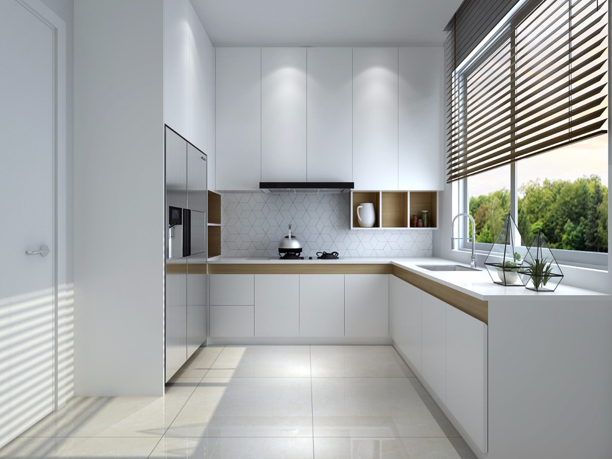 L-shaped-kitchen-with-window