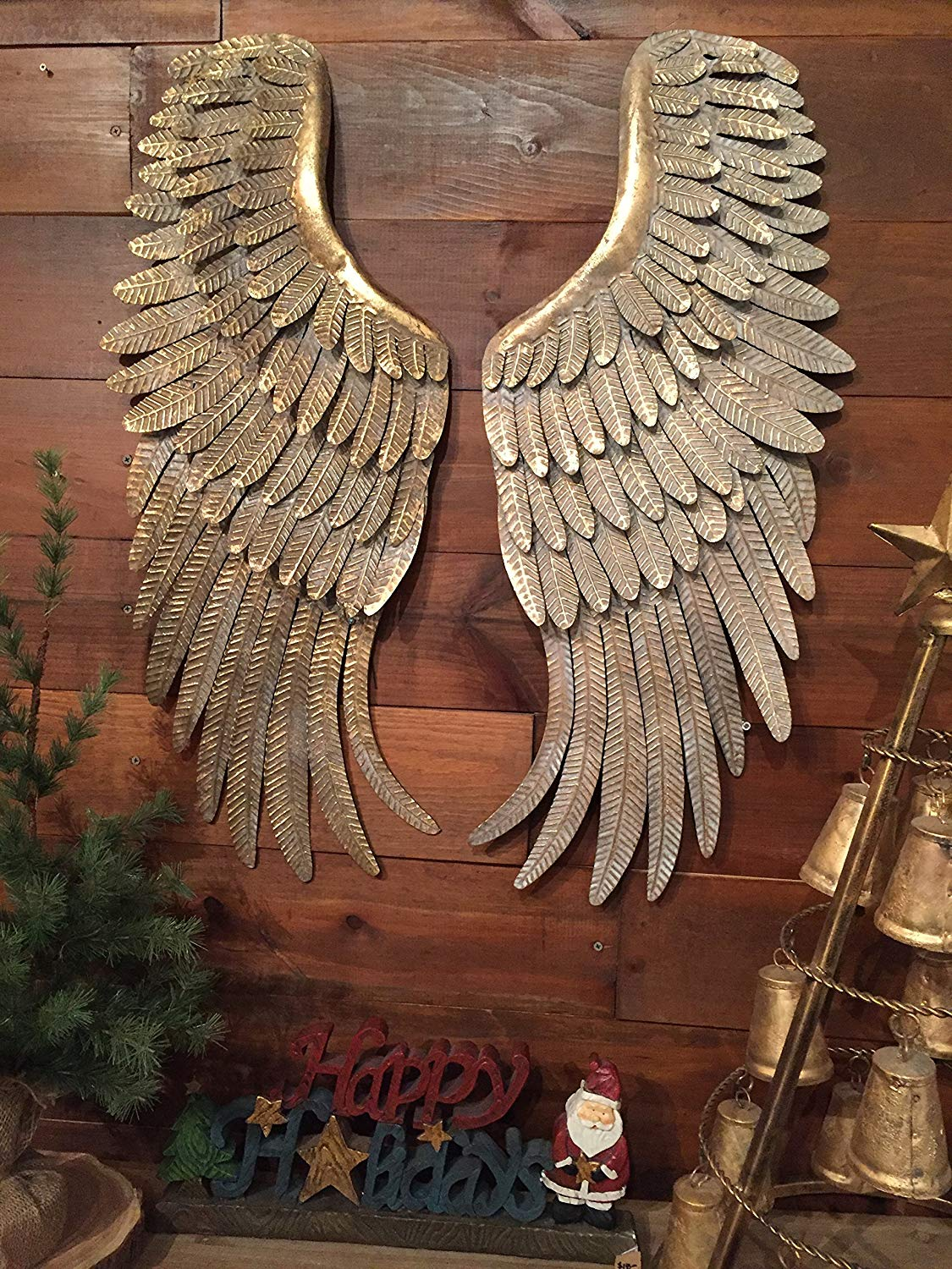 Large Rustic Metal Angel Wings Wall Decor Angel Themed For