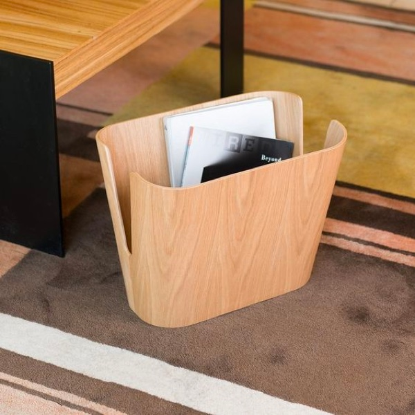 Light-Wood-Magazine-Holder-Floor-Bin-Kita-Wooden-Book-Holder