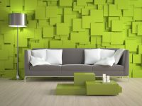 Lime-Green-Livingroom-Accent-Wall
