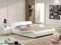 Low-White-Platform-Bed-Upholstered-Curved-Unique-Folded-Desing-Contemporary
