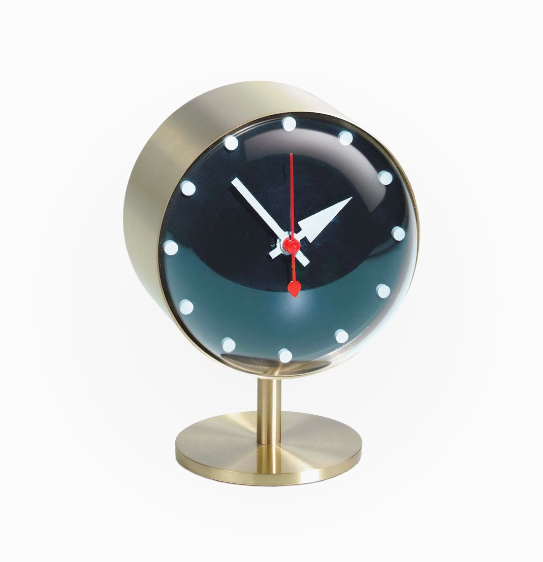 Mid-Century-Modern-Style-Desk-Clock-Gold-And-Black-Small