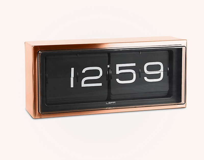 Mid-Century-Modern-Style-Flip-Clock-With-Copper-Finish-Leff-Design