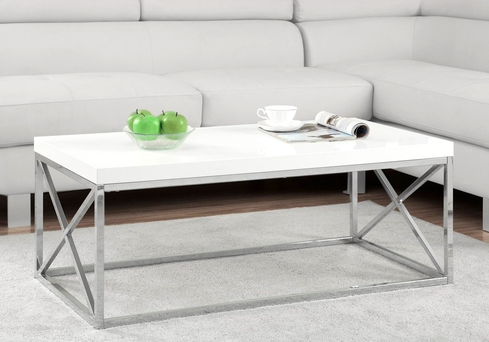 Modern-Glossy-White-Rectangular-Coffee-Table-With-Chrome-Legs
