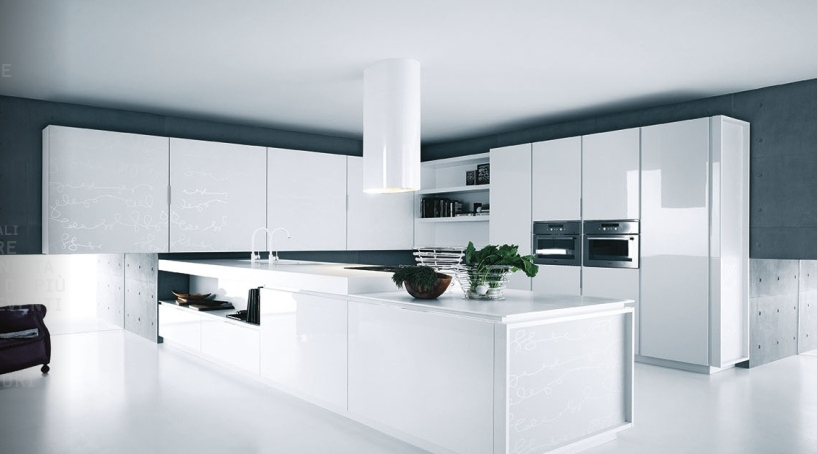 Modern-Kitchen-white-lacquer-cabinets