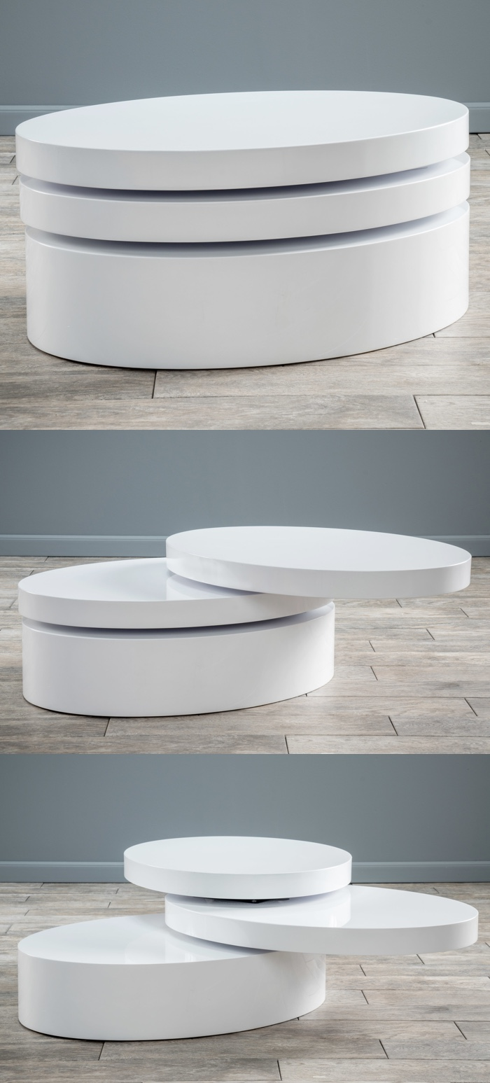 Modern-Oval-Gloss-White-Swivel-Coffee-Table