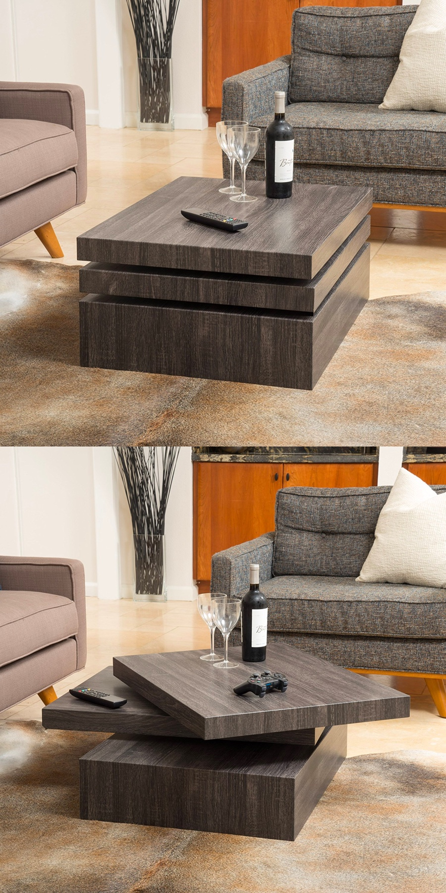 Modern-Square-Solid-Wood-Rotating-Coffee-Table
