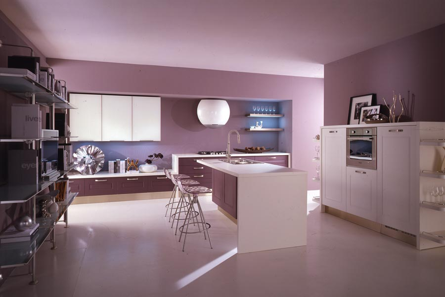 Modern-violet-and-pink-kitchen-by-Cucine-Lube-5