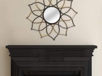 Multi-color-Flower-Shaped-Decorative-Wall-Mirror-Black-And-Gold-Modern-Wall-Decor