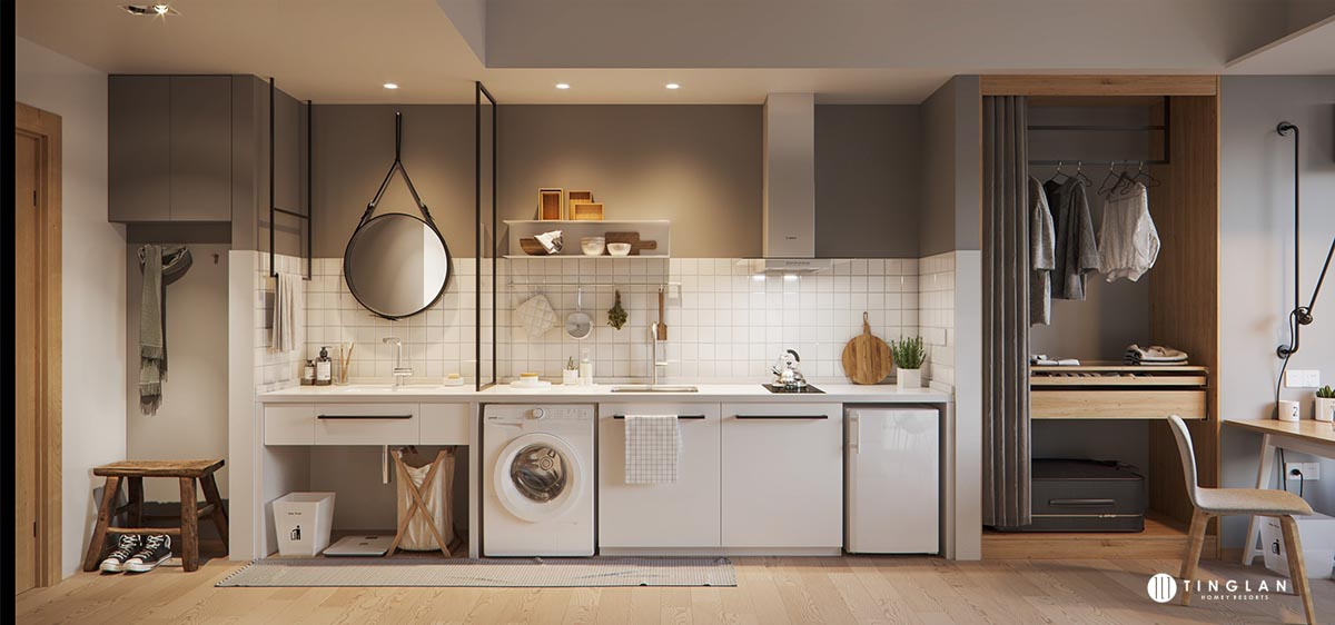 One-wall-modern-white-small-kitchen-layouts