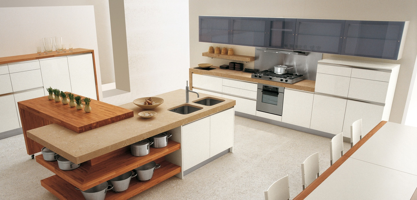 Open-kitchen-island-shelving