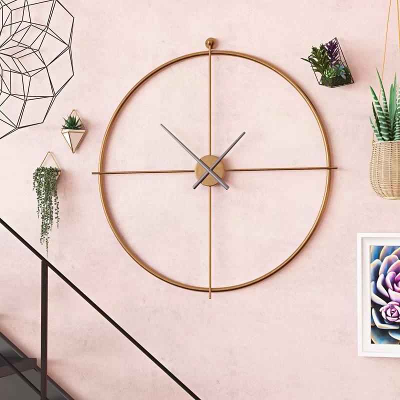 Oversized-Mid-Century-Modern-Wall-Clock-Extra-Large-Nautical-Compass-Clock