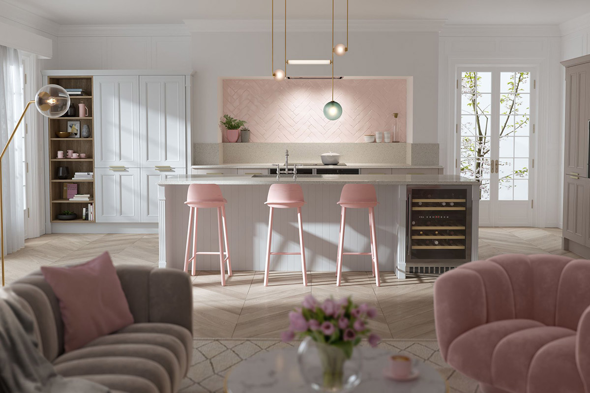 51 Inspirational Pink Kitchens With Tips Dan Accessories To ...