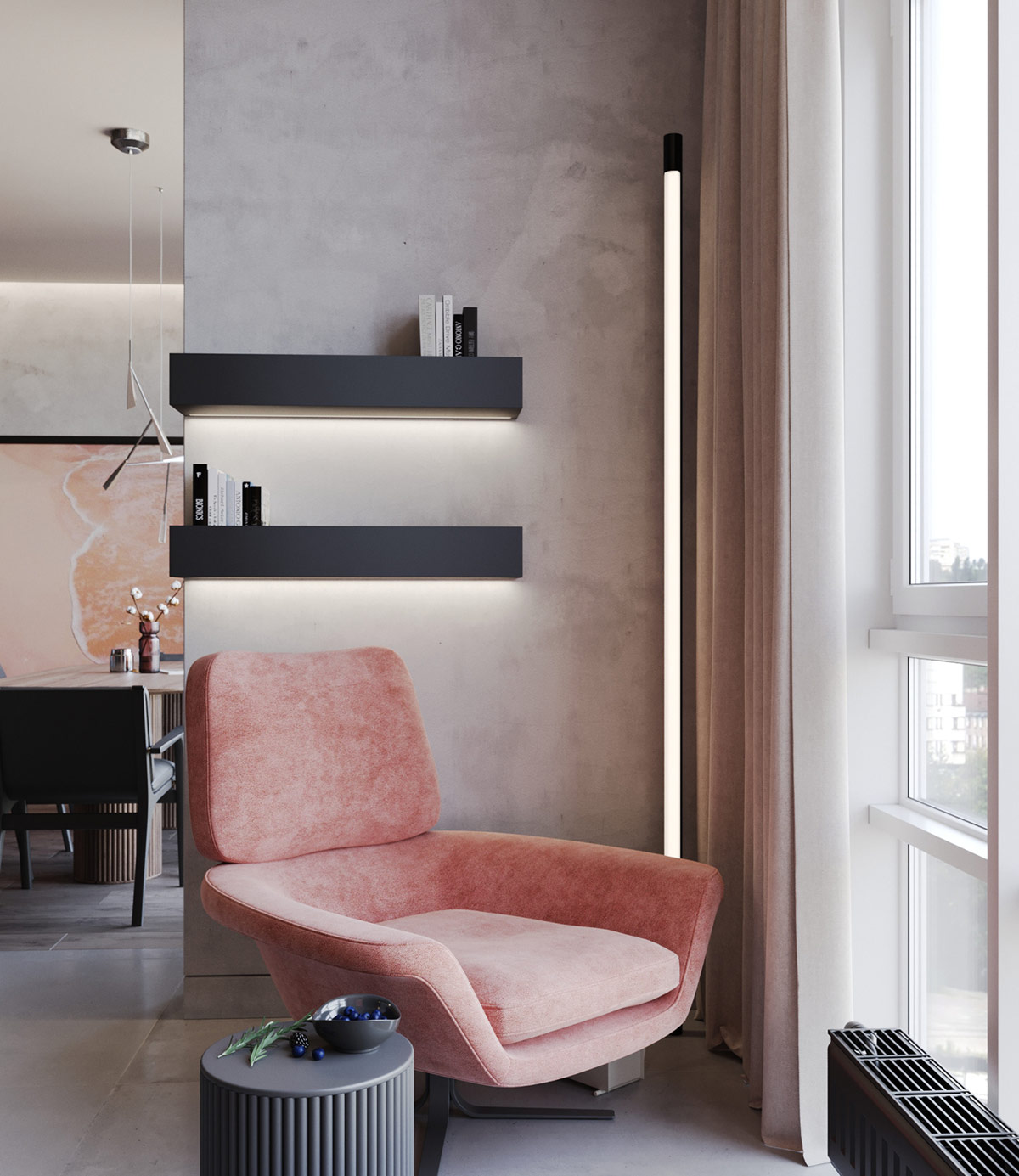 Pink-accent-chair-1 - Awesome Decors