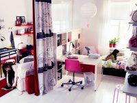 Pink-black-white-teenage-girls-bedroom