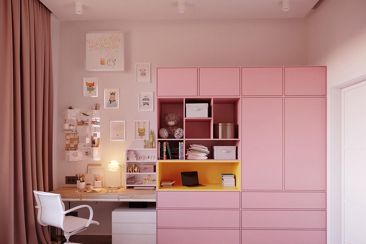 Pink-study-room