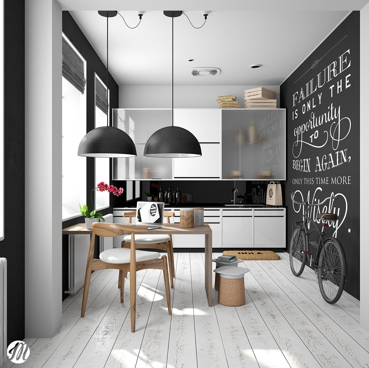 Image of: Scandinavian Dining Room Inspirational Chalkboard Quotes Awesome Decors