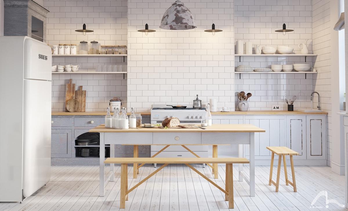 Scandinavian-kitchen-light-wood-white-simple-round-features
