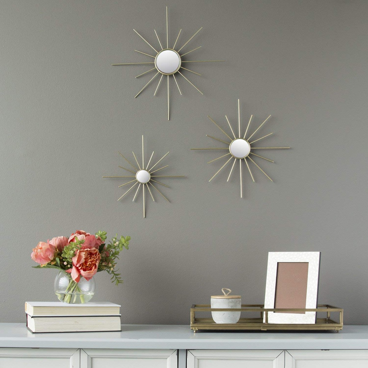 Set-Of-3-Decorative-Mirrors-Small-Starburst-Gold-Mirrors-For-Wall