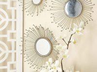 Sunburst-Style-Set-Of-3-Decorative-Wall-Mirrors-Mid-Century-Modern-Wall-Decor