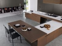 U-shaped-wood-kitchen-island