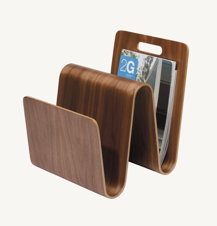 Walnut-Wood-Magazine-Rack-Molded-Plywood-W-Magazine-Holder