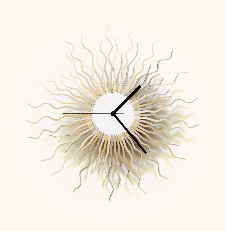 Wavy-Starburst-Wall-Clock-Silver-Gold-Sunburst-Mid-Century-Modern-Clock-Medusa