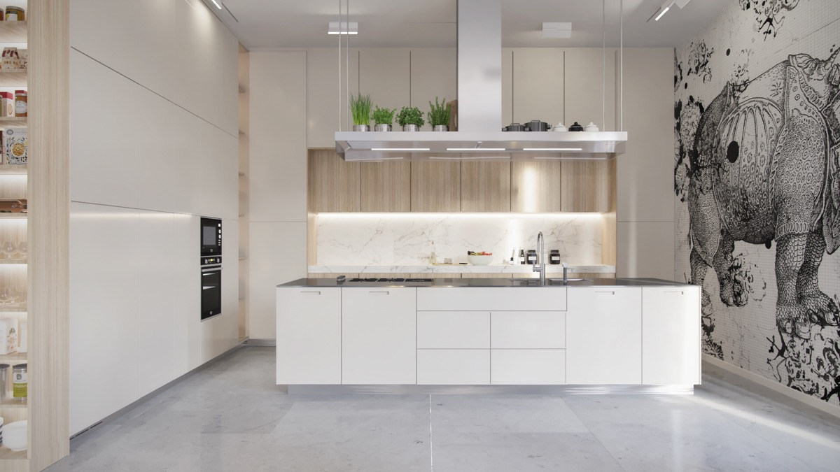 White-Kitchen-Marble-Floor