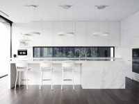 White-Marble-Island-Kitchen-Dark-Wood-Floors